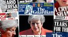 'Broken by Brexit': what the papers say about May's farewell speech
