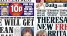 Theresa May gets thumbs up from Brexit-supporting national newspapers