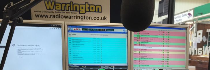 Radio Warrington 1332 AM branding